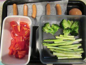 蒸し野菜&ゆで卵