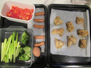 唐揚げ&蒸し野菜&ゆで卵