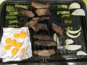 まかせて調理で焼肉完成