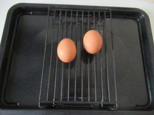 ゆで卵になる卵