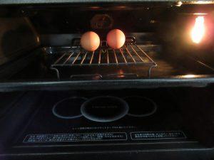 ヘルシオに投入された卵