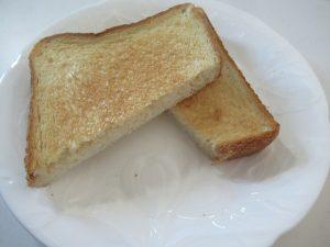 ウォーターグリルで焼いたトースト