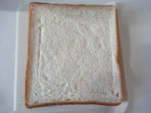 食パン内側に切り込み